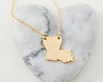 New Orleans Gift Louisiana Necklace Girls Trip Necklace Gift New Orleans Jewelry Louisiana Gift Charm Necklace New Orleans Necklace