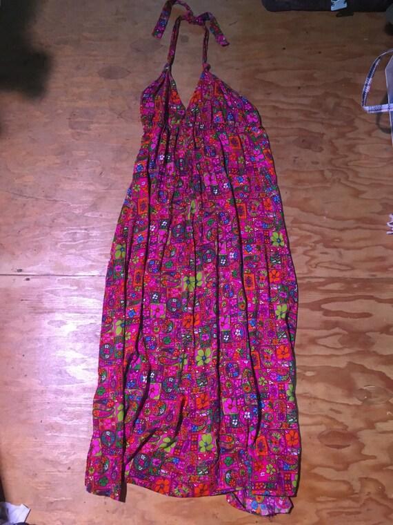 70s flower child dress