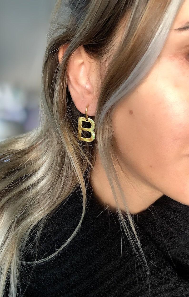 Dangle Earrings \u2022Personalized Earrings \u2022Custom Silver Earrings \u2022Initial Letter Earrings \u2022925 Silver Earrings