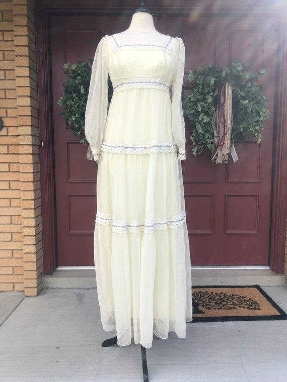 1970's cottage core dress like Gunne Sax - image 1