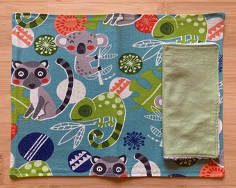 Ready-to-Ship Placemat and Napkin set, washable, reusable, cotton canvas