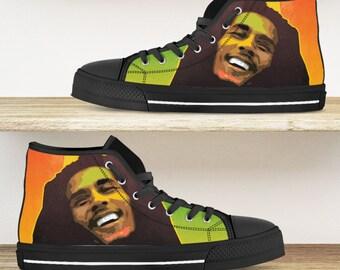 Reggae sneakers rastafari sneakers Custom Shoes Bob Marley shoes Reggae Shoes Rasta Shoes Rasta sneakers Bob Marley Sneakers