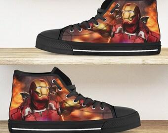 Iron man hi tops | Etsy
