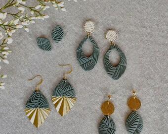 Handmade Earrings  Australiana  Polymer Clay Earrings  Clip on option Gum Blossom Large Hoop Statement Earrings