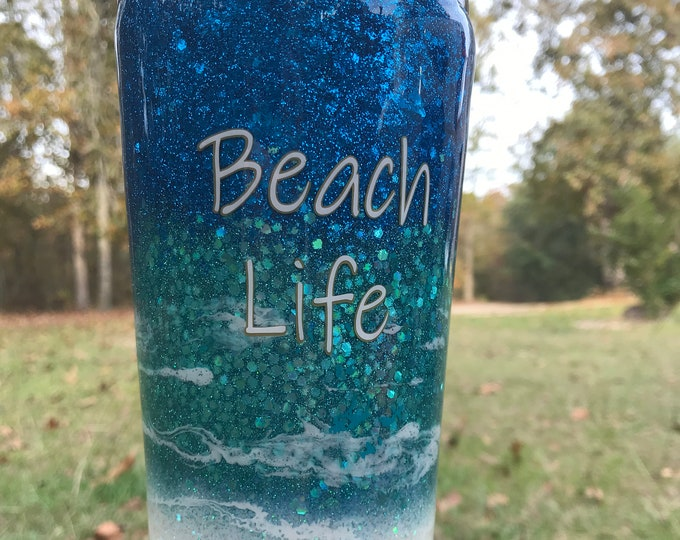 Beach Life stainless steel, 24 oz, all the beach vibes beach inspired colors
