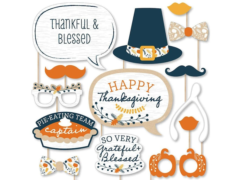 Thanksgiving Photo Booth Props Kit