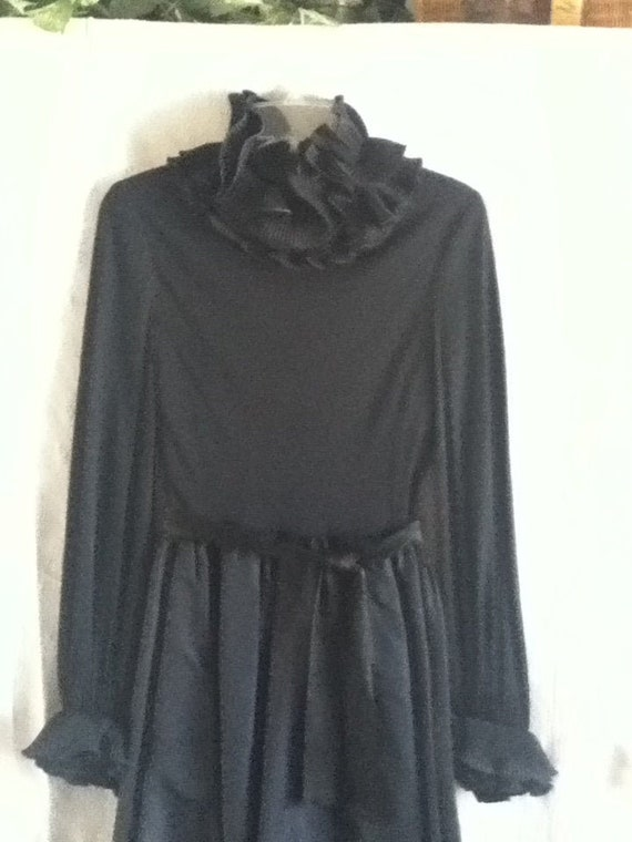 Vintage Black I. Magnin Evening Gown designed by V