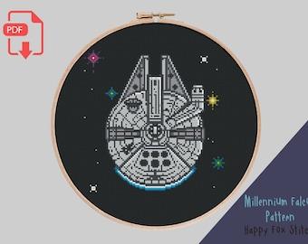 Millennium Falcon |Star Wars | Cross Stitch Pattern PDF download, easy make, embroidery, x-stitch | Film