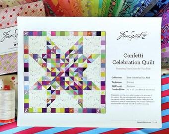 Tula Pink Confetti Celebration Quilt Kit + Aurifil Thread Spool
