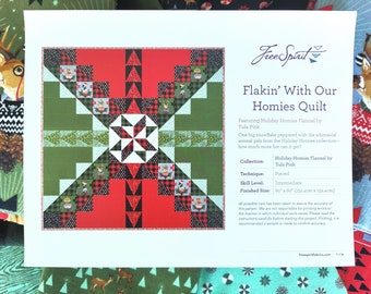 Tula Pink Flakin' With Our Homies, Holiday Homies Flannel Quilt Kit