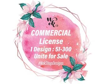 NokShopDesigns | Commercial use License 1 design, 51-300 units for sale