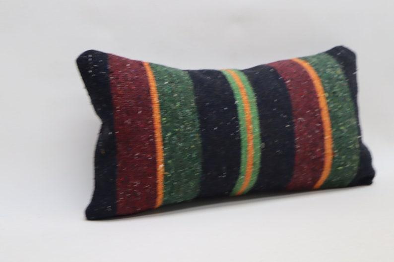 bohemian kilim pillow lumbar pillow 10x20 striped kilim pilllow decorative kilim pillow turkey pillow boho decor pillow pillow cover code 34
