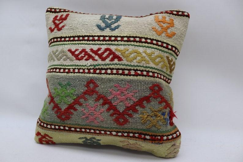 embroidery kilim pillow boho decor pillow decorative kilim pillow aztec kilim pillow coastal kilim pillow 14 x 14 inch pillow cover  code 50
