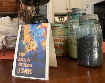 Blank Cards, Girl Power Art & Gifts, Shining Star
