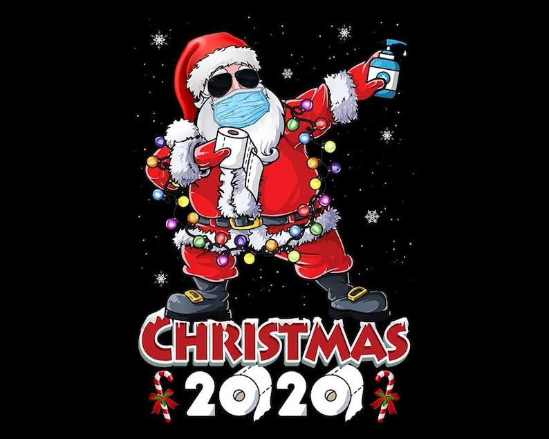 Funny Santa Dabbing Merry Christmas 2020 Santa Wear Face Mask image 0