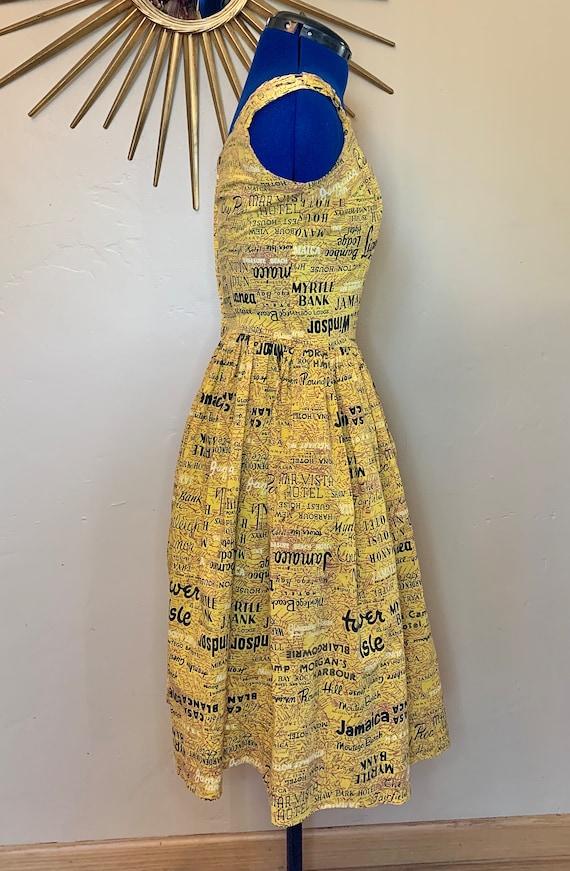 1950s/1960s Jamaica Novelty Print Day Dress - image 3