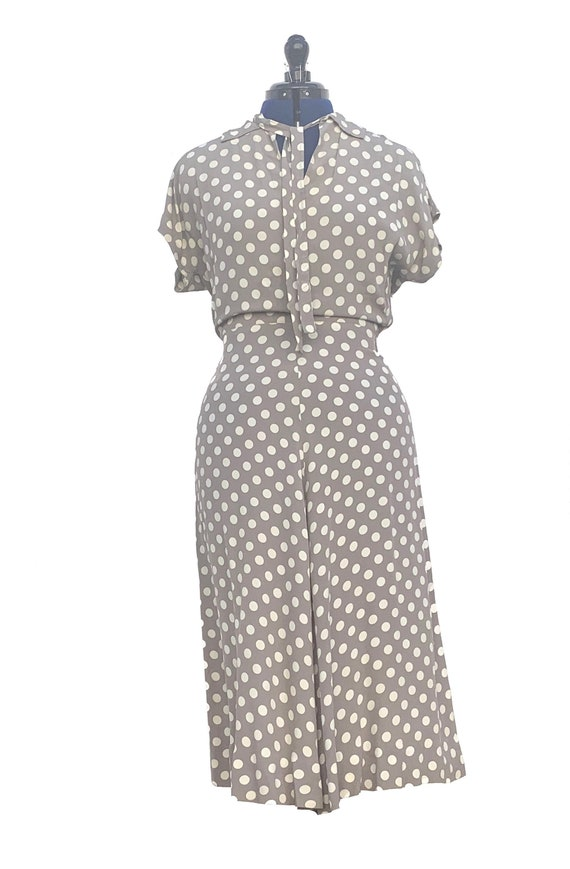 1940s Polka Dot Rayon Dress