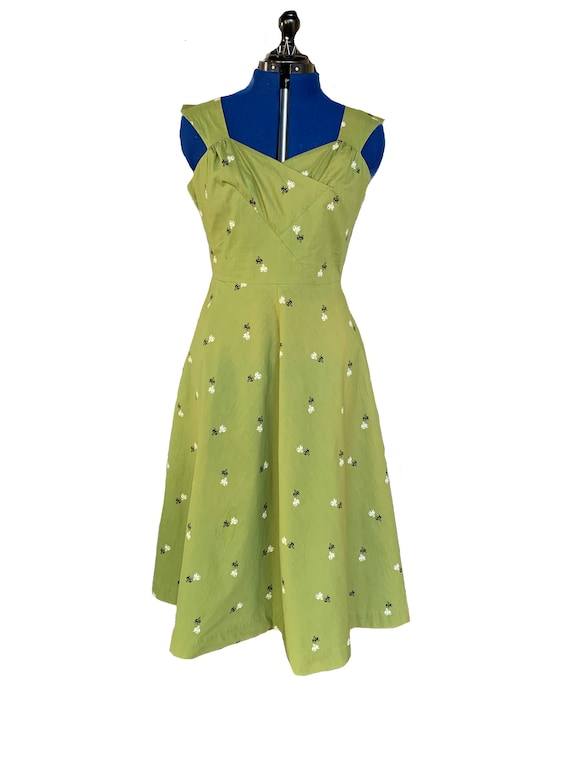 1950s Elephant Novelty Print Day Dress