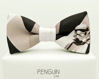Stormtrooper  bow tie, star wars bowtie, polygon bow tie, geometric fabric, gray bowtie, adults and kids sizes, Polygon stormtrooper bow tie