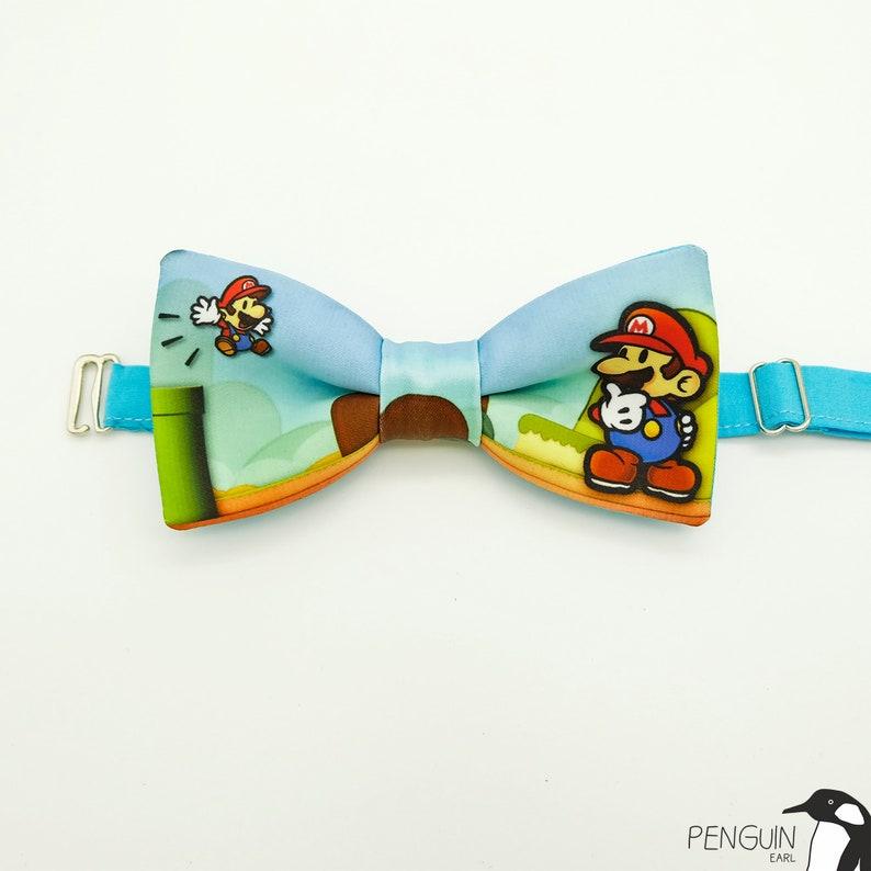 geek bow tie geek gift toddler bow tie cat bow tie bowtie mario wedding Mario bow tie bow tie super mario bowtie