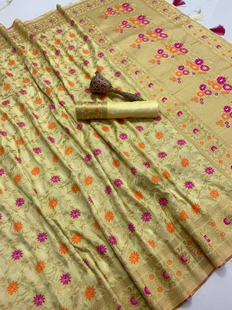 Pista Green pure silk Orginal mina jari with heavy weaving work saree blouse for women Indian saree,wedding saree,designer saree,sari,saris
