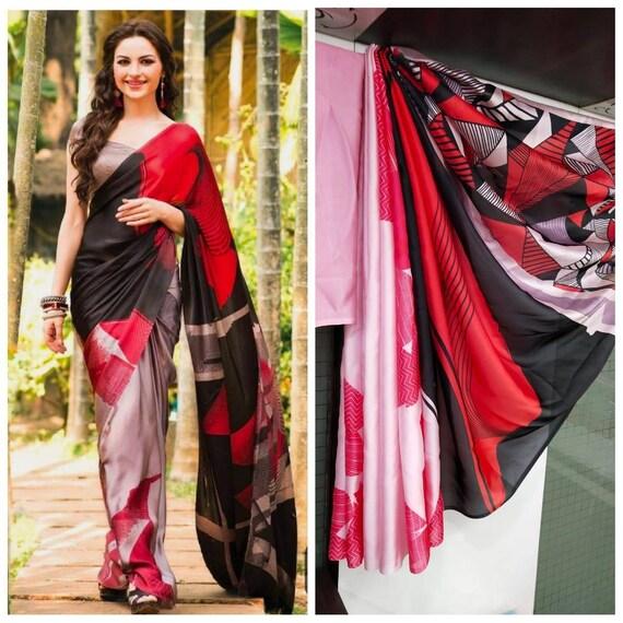 White Imported Silk Sartin saree and blouse for women,wedding saree,indian saree,traditional saree,designer saree,saree dress,saris,sari