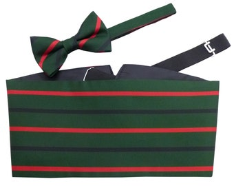 Royal Green Jackets Cummerbund Set (Includes Bow Tie & Hanky)
