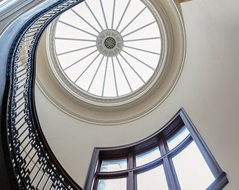 Staircase at the Mechanics' Institute, San Francisco, California