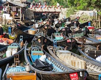Jetty in Naung Shwe, Shan State, Myanmar (Burma)