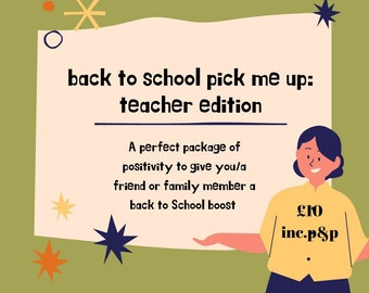 Teacher Pick Me Up!!