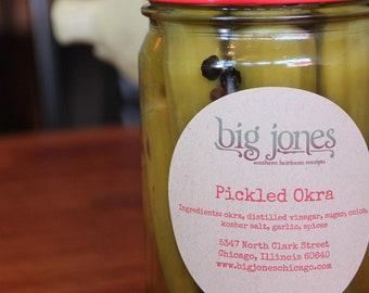 Spicy Okra Pickles