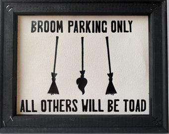 Broom Parking Sign Etsy