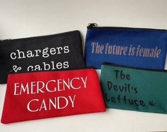 FREE SHIPPING! Fun canvas accessory or toiletry bags