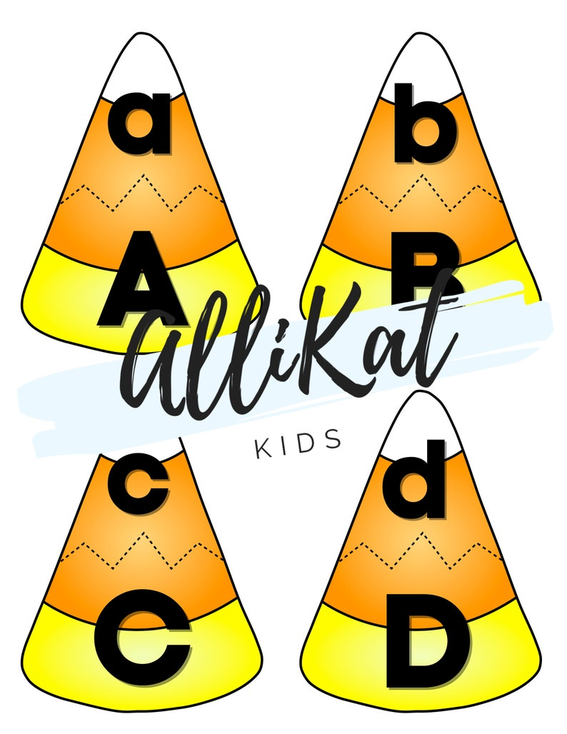 Candy Corn Letter Match Uppercase and Lowercase Letter
