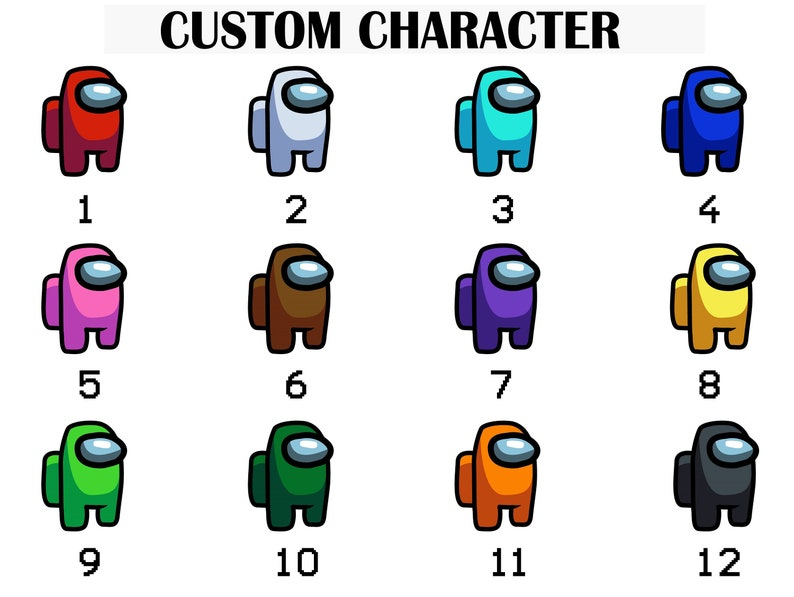 Among Us Custom Name Crewmate All Character Pet Hat Outfit ...