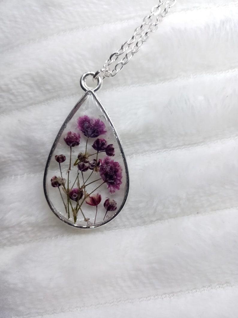Purple teardrop pendant