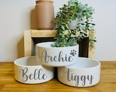 Personalised Pet Bowl Cat Bowl Dog Bowl Rabbit Bowl Ceramic Feeding Bowl Mrs Hinch Inspired, Stacey Solomon