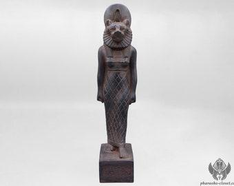 The Healing Sekhmet - Unique Egyptian Stone Statue of The Warrior Goddess Sekhmet - Egyptian Antique Art - Masterfully Handmade in Egypt