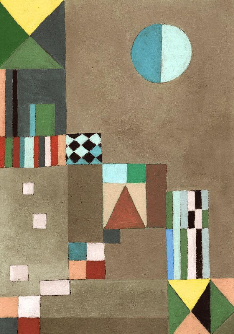 Composition 1  Wall art print Vivid colors modern art image 0