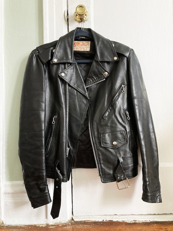 Vintage Women's Leather Motorcycle Jacket