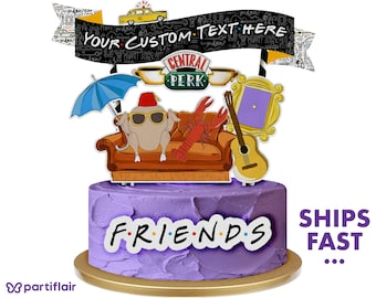 Large 100/% Comestible Handmade Friends TV Cake Topper canapé Trou Central Perk