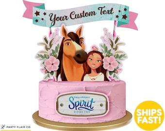 Spirit Riding Free Cake Topper Etsy
