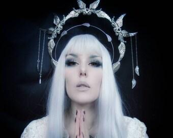 gold or silver tiara headband ASTRA halo angel costume headpiece