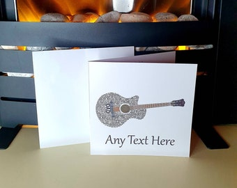 PERSONALISED ELECTRIC GUITAR MUSIC BIRTHDAY FATHERS DAY ANY OCCASION CARD Insert