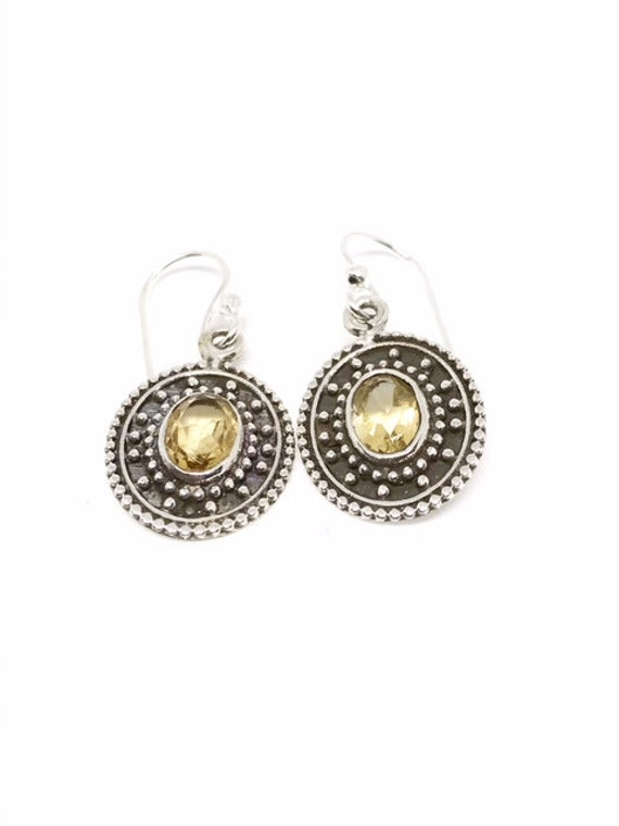 AAA Rated Citrine Earrings, Sterling Silver Earrin