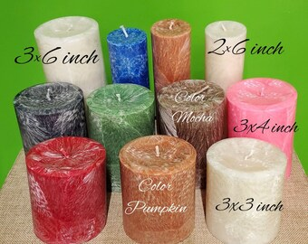 Pillar Candles 2x6/3x3/3x4/3x6/4x6   Customizable scent & size   Palm Wax Candle   Handmade   Center Piece  Candles Energy