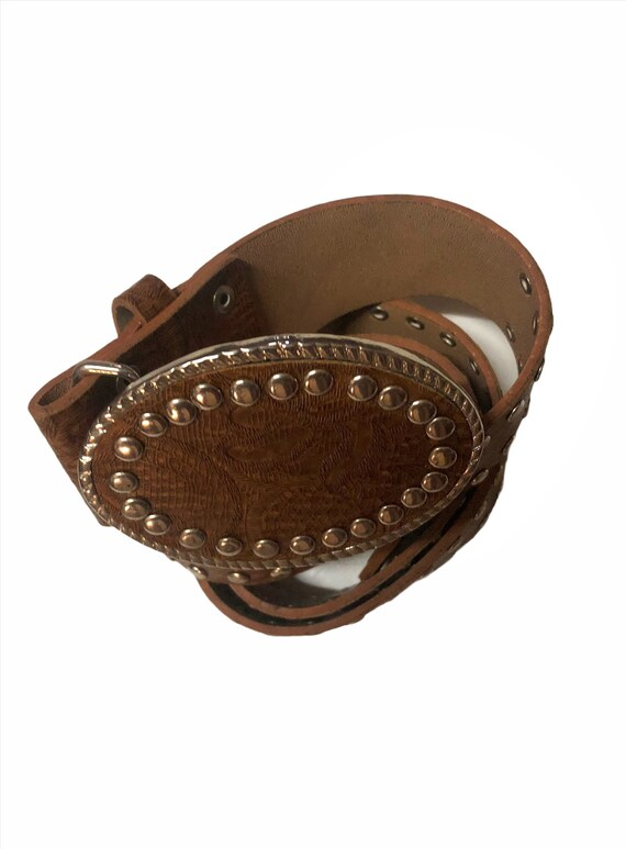 Big  buckle Belt  Leather belt