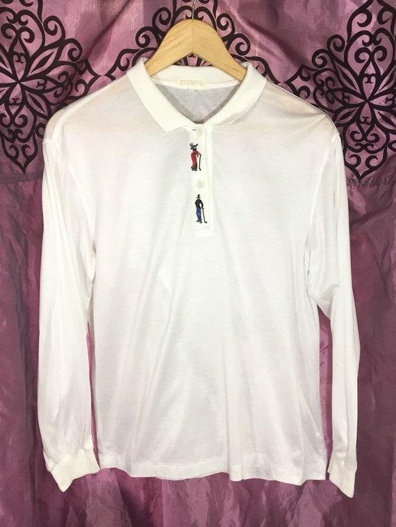 Vintage Balenciaga Embroidery Polo Shirts Vintage