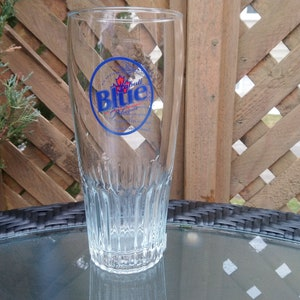 1990s Bar Decor Collectible Barware Tall Beer Glass Vintage Harp Lager By Guinness Pilsner Glass, Drinking Glass 1.5 Pint Capacity