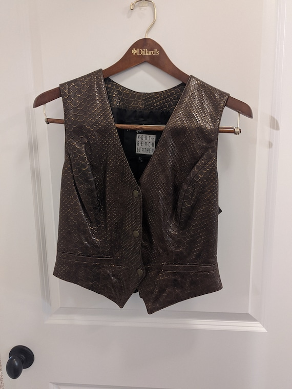 North Beach Leather Michael Hoban Snake Vest